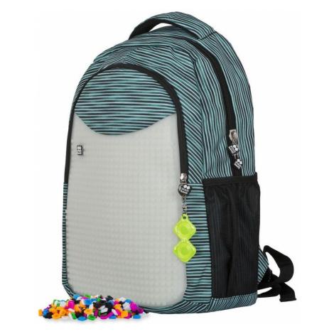 Pixie Crew školní batoh PXB-16 světle modrá/šedá svítící ve tmě