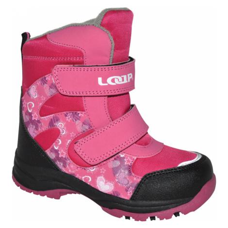 LOAP CHOSEE Dětská zimní obuv KBK1644J55V růžová