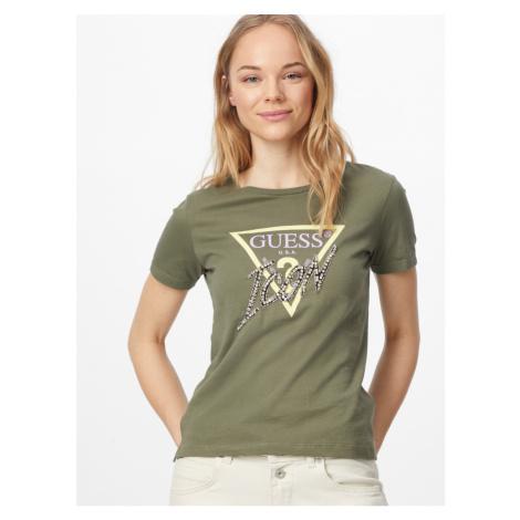 Guess dámské khaki zelené triko