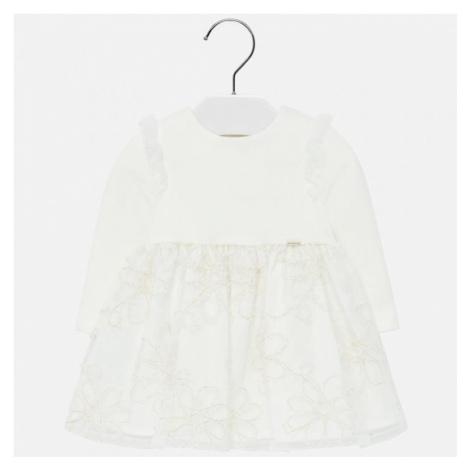 Dívčí šaty Mayoral 2906 -87   smetanová