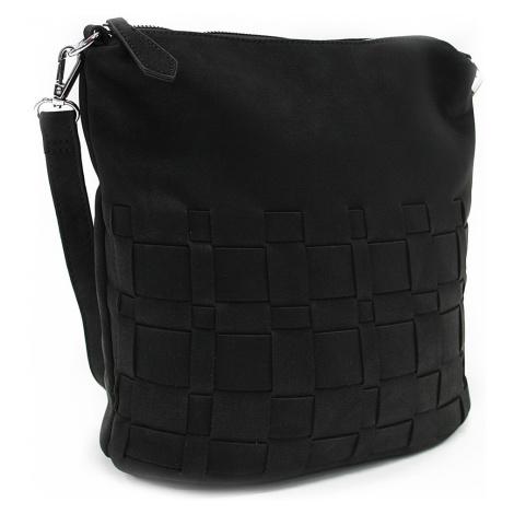 Černá dámská crossbody kabelka s proplétaným designem Faunia Mahel