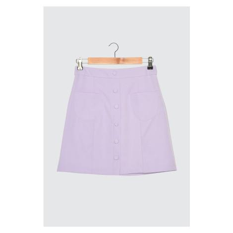 Trendyol Lila Button Detail Skirt
