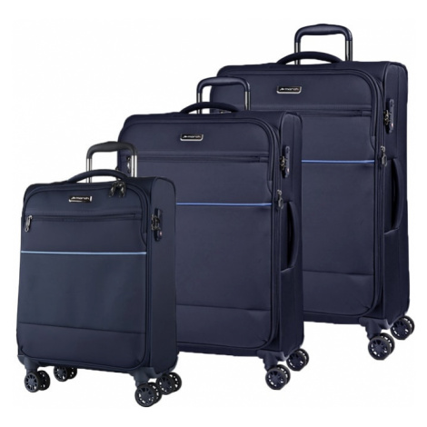 March Sada cestovních kufrů Easy S + M + L, tmavě modrá
