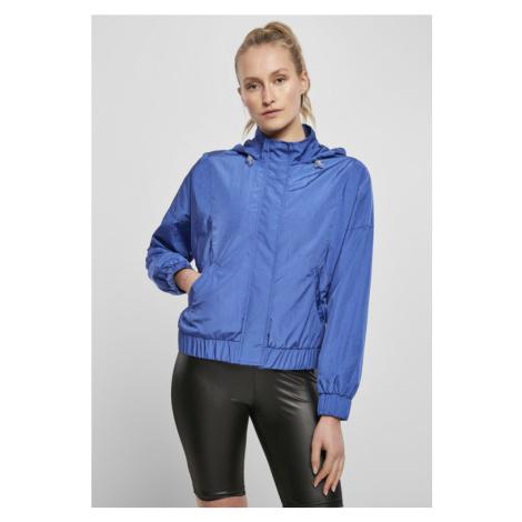 Ladies Oversized Shiny Crinkle Nylon Jacket - sporty blue Urban Classics