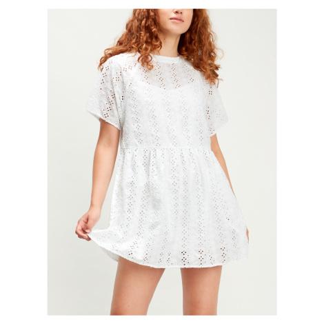 Šaty LEVI'S Poppy Dress Alejandra Eyelet Bright Whi Bílá Levi´s