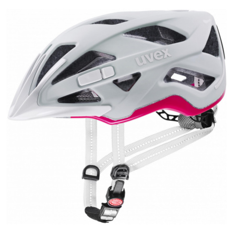 Cyklistická helma Uvex City Active papyrus-neon pink mat