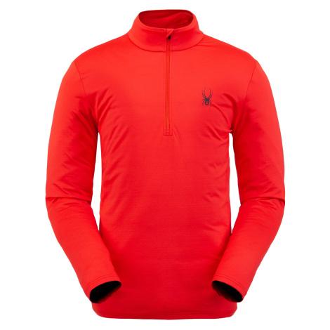 Mikina Spyder M Protect Zip T-Neck - červená