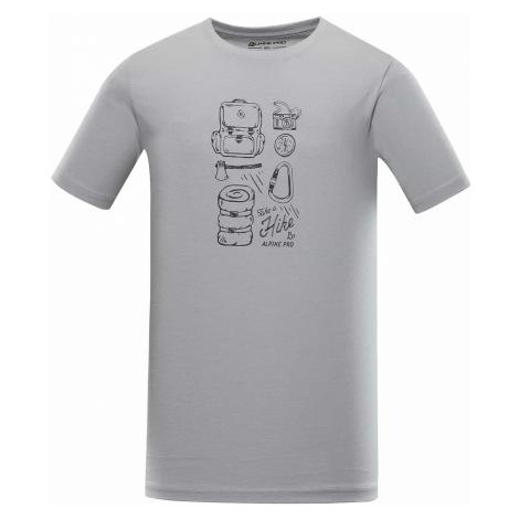 Alpine Pro Uneg 9 pánské tričko šedé