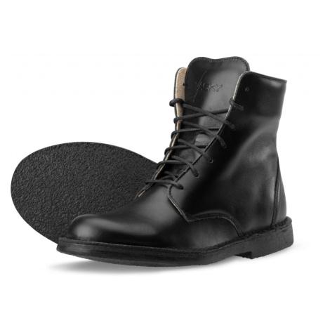 Vasky Lydie Black - Dámské kožené kotníkové boty černé, česká výroba
