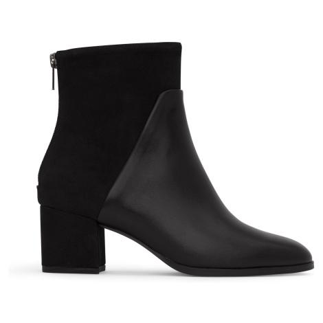 Černé dámské boty na podpatku Matt & Nat Dea