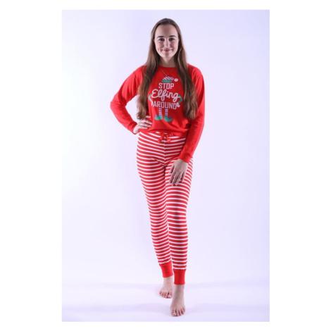 Dámské pyžamo Caytlin červené Vienetta Secret