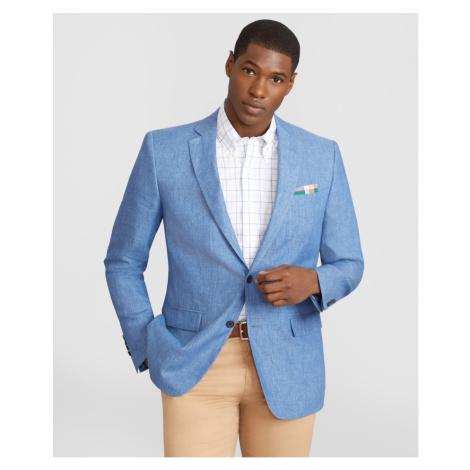 Sako Brooks Brothers Spct Soft Linen Sv Hl Rgnt Lino Blue - Různobarevná