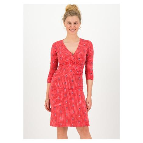 Žerzejové šaty červené s dlouhým rukávem Blutsgeschwister Skautská přísaha