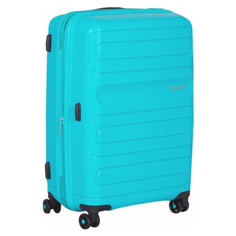 Velký tyrkysový kufr na kolečkách American Tourister