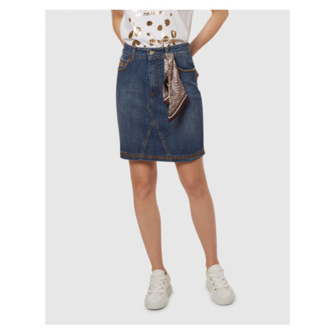 Sukně La Martina Woman Denim Skirt Blue Denim S - Modrá