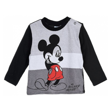 Mickey mouse černé chlapecké tričko s dlouhým rukávem Disney