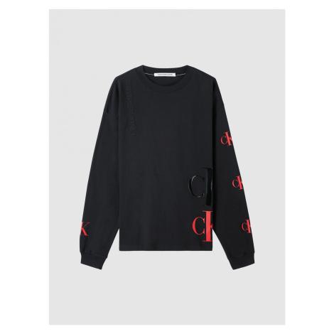 Calvin Klein Calvin Klein pánské černé tričko s dlouhým rukávem CK ECO FASHION TEE