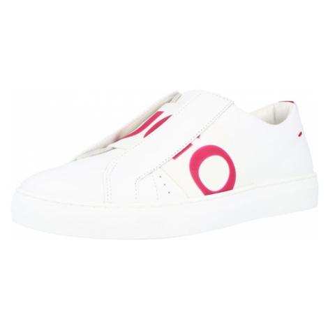 HUGO Slip on boty 'Futurism' bílá / světle červená