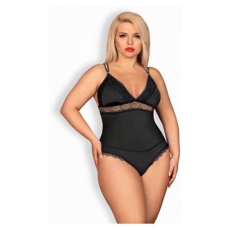 Elegantní body Lolitte teddy - Obsessive Černá