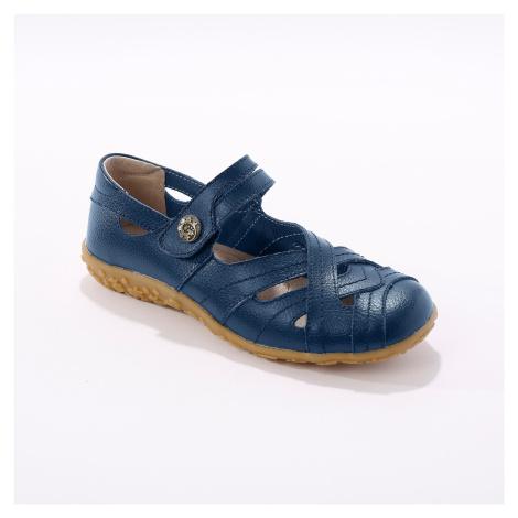 Blancheporte Vycházková obuv z pružné kůže, námořnicky modré námořnická modrá