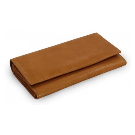 Světle hnědá dámská kožená psaníčková peněženka Esmel Arwel