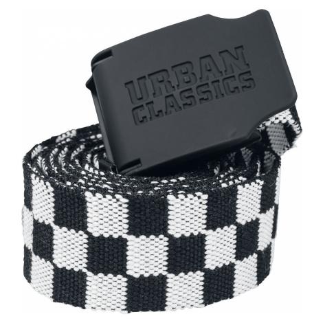 Urban Classics Kostkovaný látkový pásek US 150 cm Opasky cerná/bílá