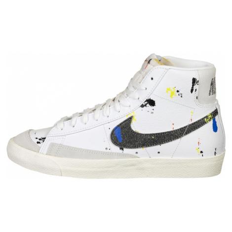 Nike Sportswear Kotníkové tenisky 'Blazer Mid 77' bílá / černá / žlutá / nebeská modř / tmavě še