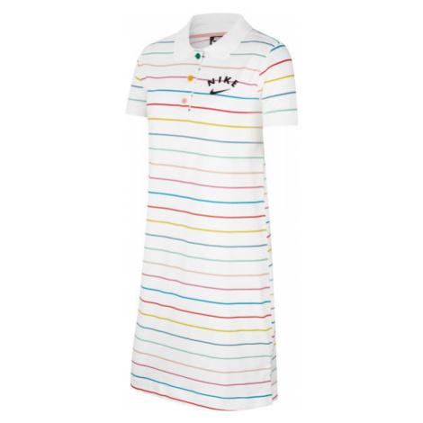 Nike NSW DRESS POLO FB G bílá - Dívčí šaty