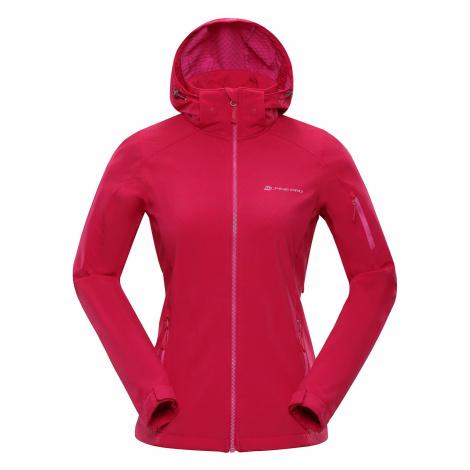 Dámská softshellová bunda Alpine Pro NOOTKA 6 - tmavě růžová