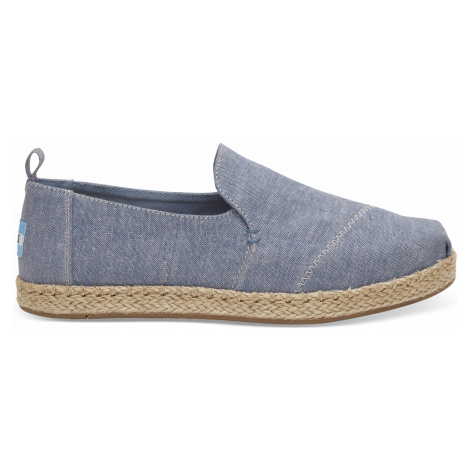 Blue Slub Canvas Deconstructed Alpargata Toms