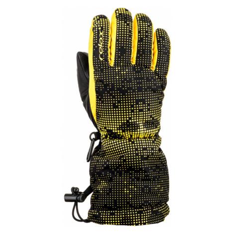 RELAX PUZZY Junior lyžařské rukavice RR15D žlutá