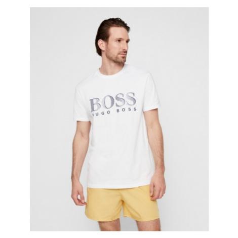 Hugo Boss Hugo Boss pánské bílé tričko UPF50+ s nápisem
