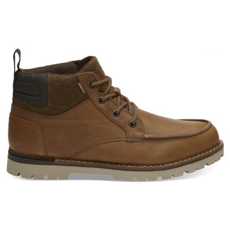 Waterproof Dark Toffee Leather Men Hawthorne Toms