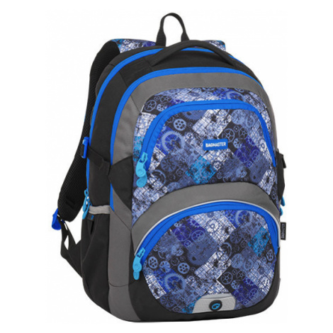 Školní batoh pro třeťáky kluky i holky BAGMASTER THEORY 8 D BLACK/BLUE/GRAY
