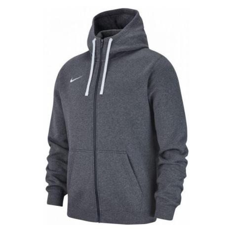 Mikina s kapucí Nike Team Club 19 Full-Zip Šedá / Bílá
