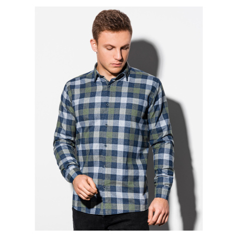 Ombre Clothing Men's shirt with long sleeves K565