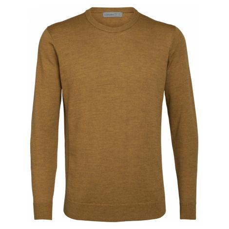 Pánské svetr ICEBREAKER Mens Shearer Crewe Sweater, SAFFRON HTHR Icebreaker Merino