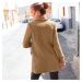 Blancheporte Kabát, jednobarevný karamelová