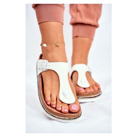 Women's Flip Flops Big Star White FF274631 Kesi
