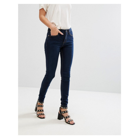 River Island Amelie mid rise skinny jeans in dark wash-Black