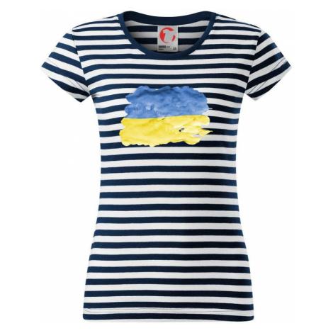 Ukrajina vlajka rozpitá - Sailor dámské triko