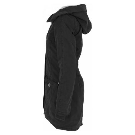 Ladies Garment Washed Long Parka - black Urban Classics