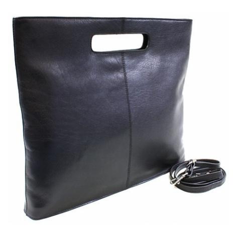 Černá kožená elegantní zipová kabelka Samantha Arwel