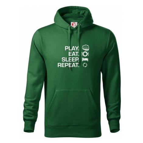 MMA eat sleep repeat - Mikina s kapucí hooded sweater