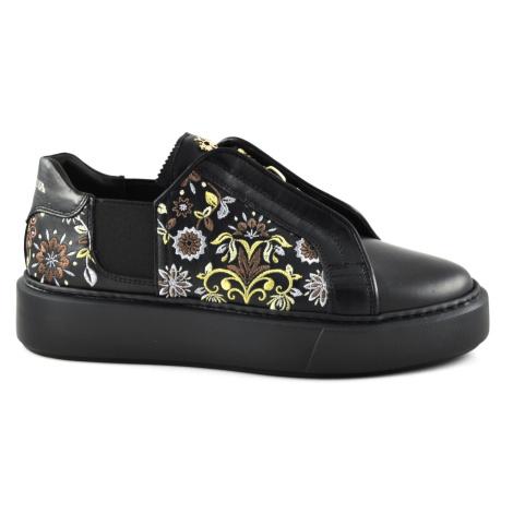 Tenisky La Martina Women'S Shoe Calf Firulete Black - Černá