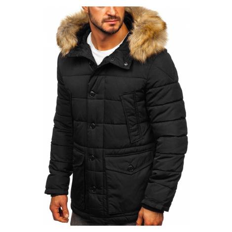 Černá pánská zimní bunda parka alaska Bolf JK361
