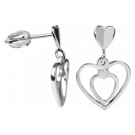 Brilio Silver Zamilované náušnice Srdce 001 04