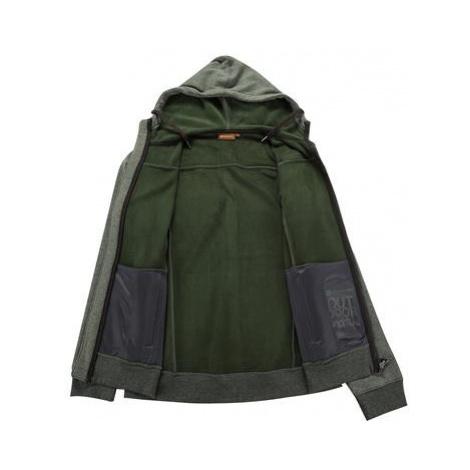 Pánská mikina Alpine Pro NAMAS - zeleno-šedá