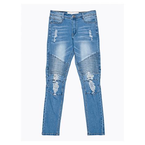 GATE Motorkářské džíny slim fit s obnošeným vzhledem