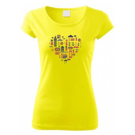 Anglie symboly srdce - Pure dámské triko